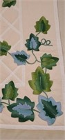 Beautiful Ivory Colored Ivy Pattern Quilt