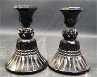 Pair of beautiful black onyx candle holders
