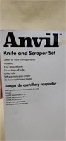 Anvil 9 pc Knife & Scraper Set