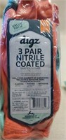 3 Packs of Digz Nitrile Coated Gloves - 3 to a pk