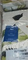 3 pc Pier 1 Trinity Palm Duvet Cover & Sham F/Q