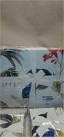 3 pc Pier 1 Trinity Palm Duvet Cover & Shams F/Q