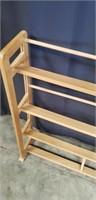 Beautiful wood quilt rack
