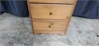 Small Wooden 3 Drawer Side Table