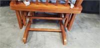 Beautiful wood glider rocking chair