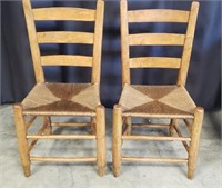 Pair of beautiful wood chairs
