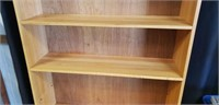 Beautiful wood 5 tier large book case