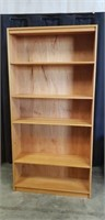 Beautiful wood 5 tier book case