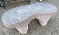 Cast Faux Stone Bench