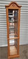 Beautiful wood glass shelf showcase