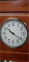Beautiful wood clock top showcase