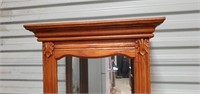 Beautiful Carved Wood Lighted Curio Cabinet