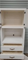 Large White Wooden Shelving Cabinet