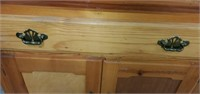 Beautiful Solid Wooden Corner Shelf Glass Doors