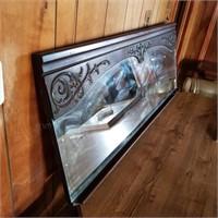 Large Buffet Mirror w/ Chalkboard Style Tray