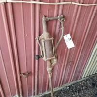 Vintage Hand Crank Barrel Pump