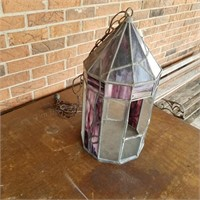Leaded Glass Swag Lamp