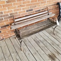 Wood & Cast Iron Park Bench