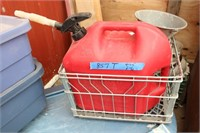 Gas Can, Large Roller Tote & Small Totes