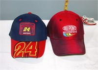 Nascar #24 Jeff Gordon New Ball Caps set of 2