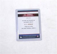 2010 Topps TJ Steele PDA-TS 168 / 199