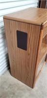 Faux wood entertainment center