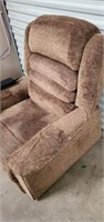 Brown Upholstered Lift/Massage Chair