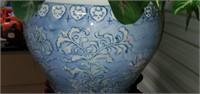 Beautiful Japanese Style Pottery Planter & Stand