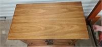 Vintage 2 Drawer Bed Side Table