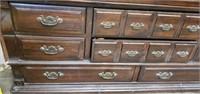 Vintage Wooden 8 Drawer Dresser & Mirror