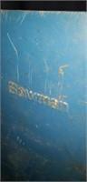 Metal blue bolts and screws divider