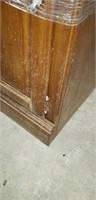 Beautiful very heavy wood entertainment center