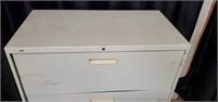 Large Beige Metal 4 Drawer File Cabinet