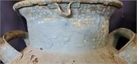 Gray Blue Cast Iron Handled Milk Jug