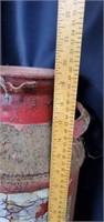 Red Cast Iron Handled Milk Jug