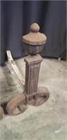 Vintage cast iron firedog