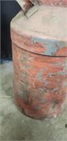 Vintage metal red milk can