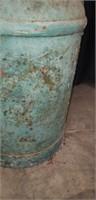 Vintage green metal milk jug