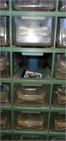 Small Plastic Container with 60 Drawers of Tools