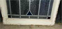 Beautiful Wooden Framed Stained Lead Glass Window