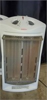 Lot of 4 Sunbeam White & Gray Electric Heaters