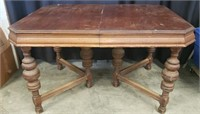 Vintage style wood dining table