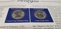 Georgia Empire State Of The South coins and stamps