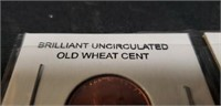 Brilliant uncirculated vintage wheat cent