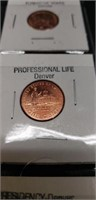 8 2009 Lincoln cents