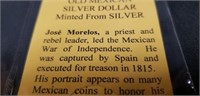 Old Mexican minted silver dollar