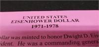 1972 U.S. Eisenhower dollar coin
