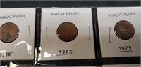 Lot of 8 various year wheat pennies