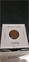 Lot of 6 Wheat pennies various years