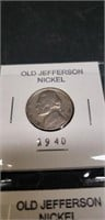 Lot of 6 old jefferson nickel various years